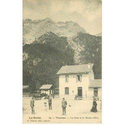 carte postale ancienne 20 VIZZAVONA. La Gare et le Monte d'Oro. Carte rare pour son cliché... Impeccable et vierge