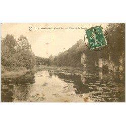 carte postale ancienne 21 AIGNAY-LE-DUC. L'Etang de la Forge 1923
