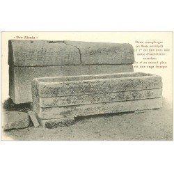 carte postale ancienne 21 ALESIA. Deux Sarcophages