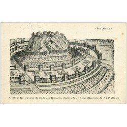 carte postale ancienne 21 ALESIA. Travaux de siège des Romains