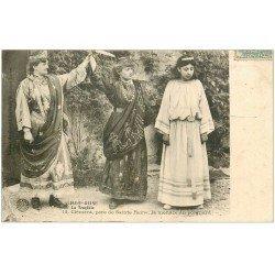 carte postale ancienne 21 ALISE-SAINTE-REINE. Clément la menace du poignard 1907