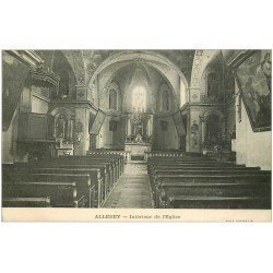 carte postale ancienne 21 ALLEREY. Intérieur de l'Eglise