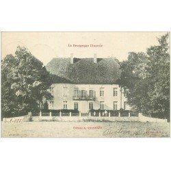 carte postale ancienne 21 CHATEAU DE VOUDENAY 1905 petite animation