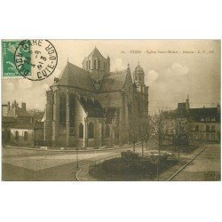 carte postale ancienne 21 DIJON. Eglise Saint-Michel. Abside 1913