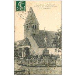 carte postale ancienne 01 Eglise et Cimetière de Vieu-en-Valmoray 1908