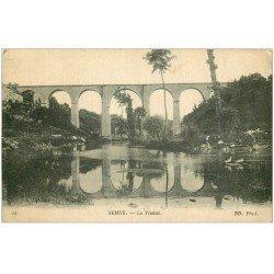 carte postale ancienne 21 SEMUR. Le Viaduc et Lavandières