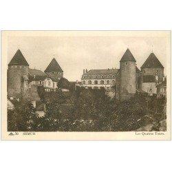 carte postale ancienne 21 SEMUR. Les Quatre Tours