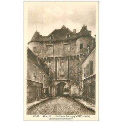 carte postale ancienne 21 SEMUR. Porte Sauvigny