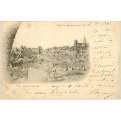 carte postale ancienne RARE 1899 21 SEMUR-EN-AUXOIS. Vue générale. Carte Pionnière de 1899
