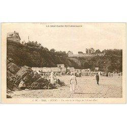 carte postale ancienne 22 BINIC. Plage de l'Avant-Port 1934