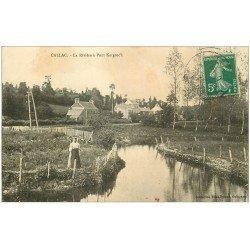 carte postale ancienne 22 CALLAC. La Rivière à Pont Kergrec'h 1907