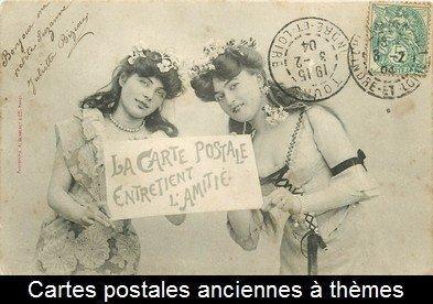 carte postale ancienne à thèmes
