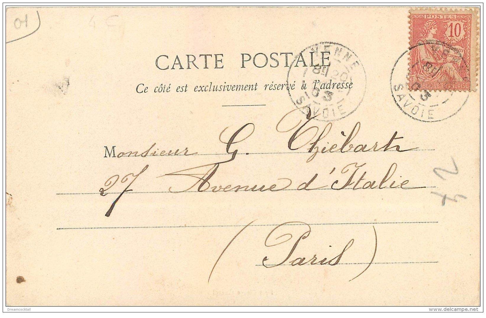 carte postale ancienne 01 Fort de Pierre-Châtel 1903