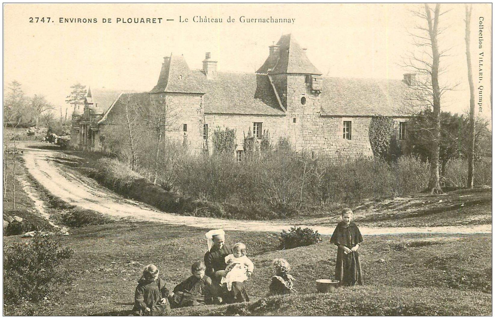 carte postale ancienne 22 CHATEAU DE GUERNACHANNAY. Environs de Plouaret