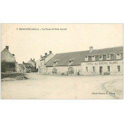 carte postale ancienne 03 MEAULNE. La Route de Saint-Armand. Hôtel du Cheval Blanc