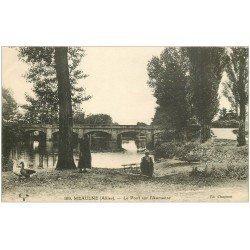 carte postale ancienne 03 MEAULNE. Le Pont sur l'Aumanse