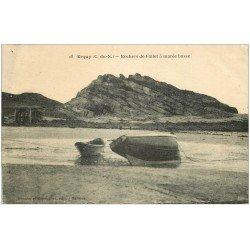 carte postale ancienne 22 ERQUY. Hôtel et Villa des Terrasses. Plage de Caroual
