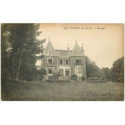 carte postale ancienne 22 ETABLES. Calvaire de la Mission 1917. Timbrée en 1919