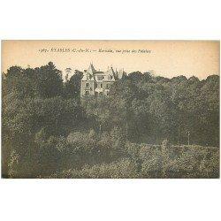 carte postale ancienne 22 ETABLES. Intérieur Eglise