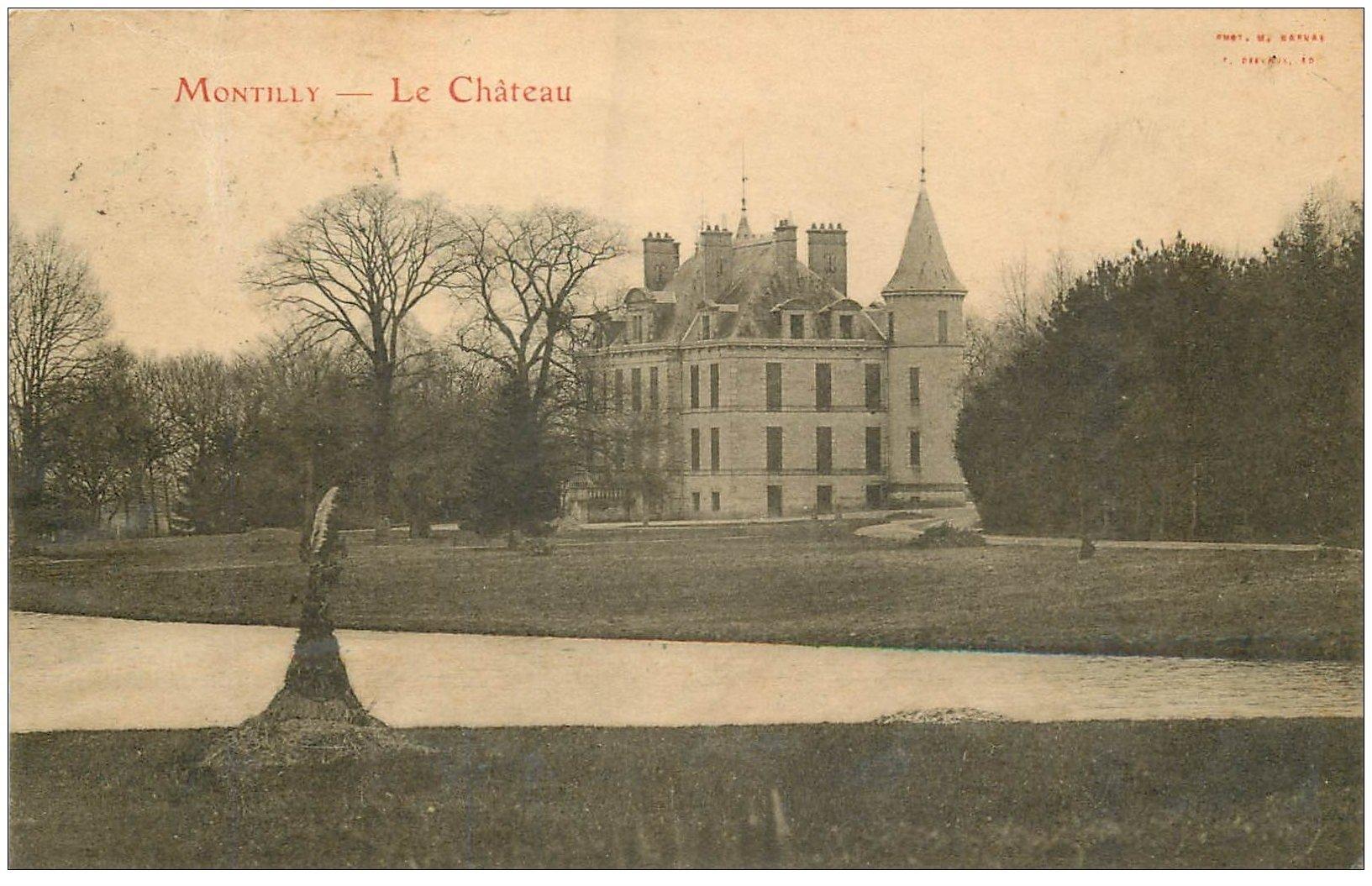 carte postale ancienne 03 MONTIGNY. Le Château 1912