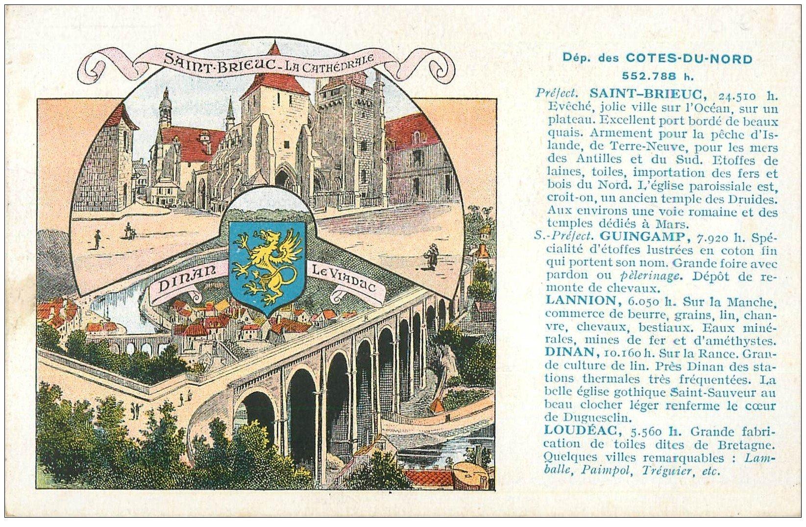 carte postale ancienne 22 COTES-DU-NORD. Saint-Brieuc et Dinan. Pastilles Valda