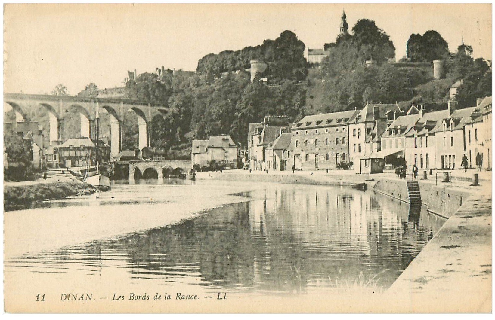 carte postale ancienne 22 DINAN. Bords de la Rance 11