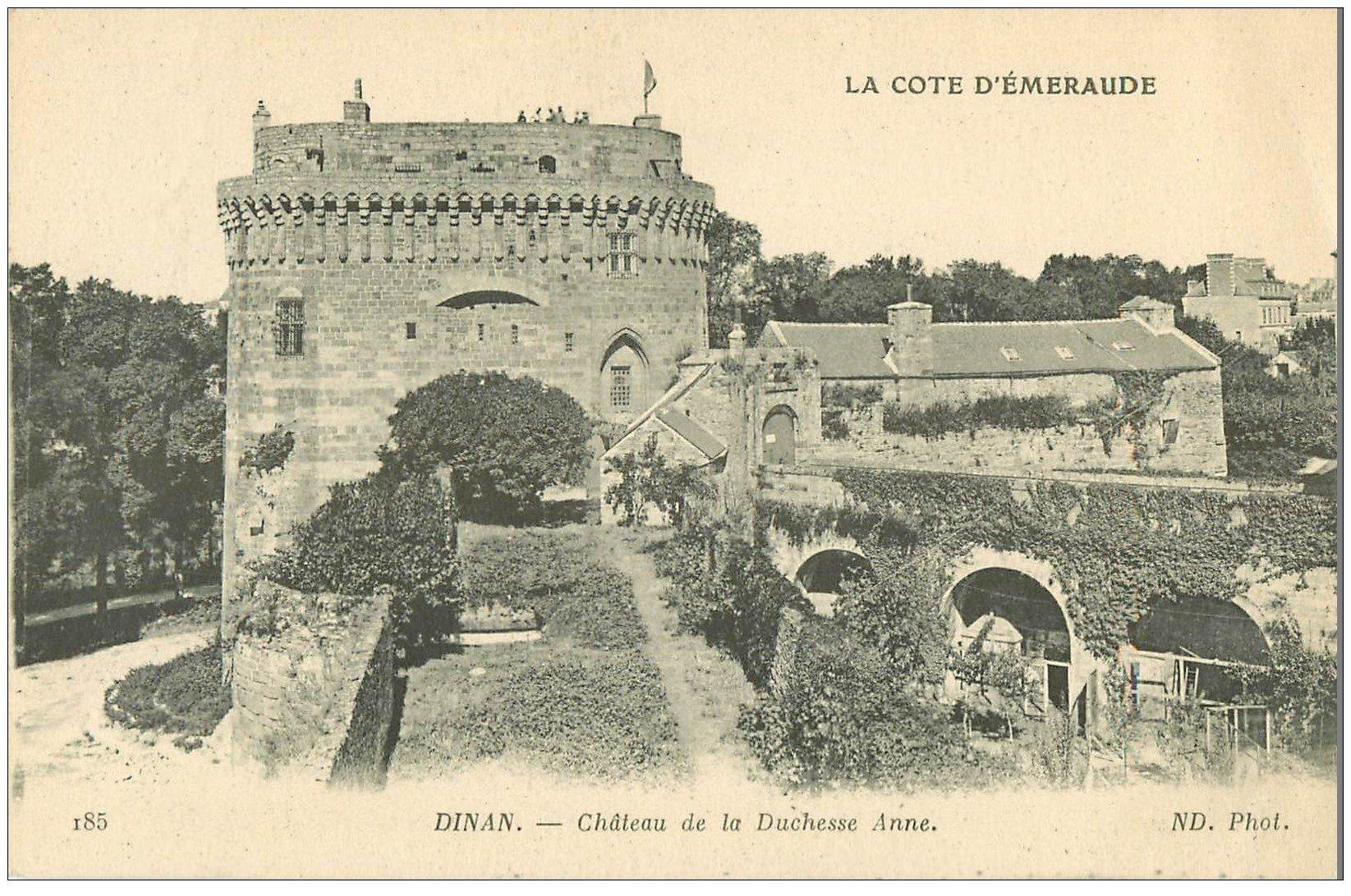 carte postale ancienne 22 DINAN. Château de la Duchesse Anne 1918
