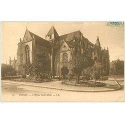 carte postale ancienne 22 DINAN. Eglise Saint-Malo vers 1906