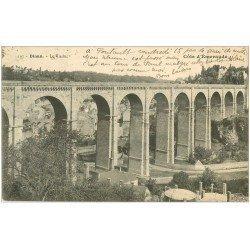 carte postale ancienne 22 DINAN. Le Viaduc Timbre Taxe 1924