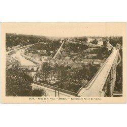 carte postale ancienne 22 DINAN. Panorama Port et Viaduc 3135