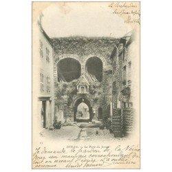 carte postale ancienne 22 DINAN. Porte du Jerzual 1902