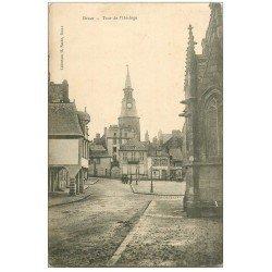 carte postale ancienne 22 DINAN. Tour de l'Horloge vers 1900