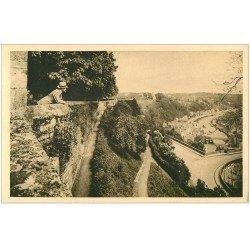 carte postale ancienne 22 DINAN. Vallée de la Rance Jardin Anglais