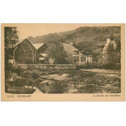 carte postale ancienne 22 GUINGAMP. Le Moulin à Eau de Pont-Ezer