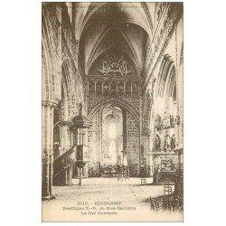 carte postale ancienne 22 GUINGAMP. Nef de la Basilique Notre-Dame de Bon-Secours