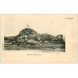 carte postale ancienne 22 ILE DE BREHAT. Chapelle Saint-Michel vers 1900 vierge