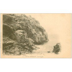 carte postale ancienne 22 ILE DE BREHAT. Le Gouffre vers 1900