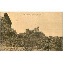 carte postale ancienne 22 ILE DE BREHAT. Le Phare du Paon 1923