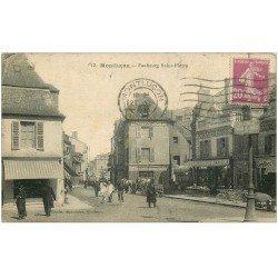 carte postale ancienne 03 MONTLUCON. Faubourg Saint-Pierre 1933. Cycle et bicyclettes Griffon