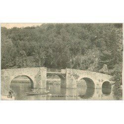 carte postale ancienne 22 LEHON. Le Pont avec rameur
