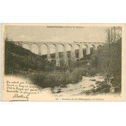 carte postale ancienne 22 MEAUGON le Viaduc avec Train 1903