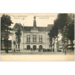 carte postale ancienne 03 MONTLUCON. Hôtel de Ville 1924. Tampon Colonies Vacances St Rémy