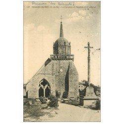 carte postale ancienne 22 PERROS-GUIREC. Calvaire et Eglise 1929