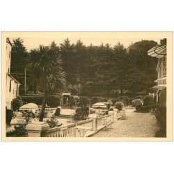 carte postale ancienne 22 PERROS-GUIREC. Jardins Grand Hôtel des Bains de Trestraou