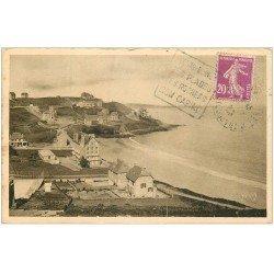 carte postale ancienne 22 PERROS-GUIREC. Plage de Trestraou 1923. Yvon n° 5