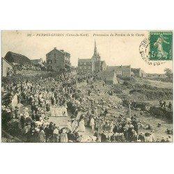 carte postale ancienne 22 PERROS-GUIREC. Procession du Pardon de la Clarté 1911