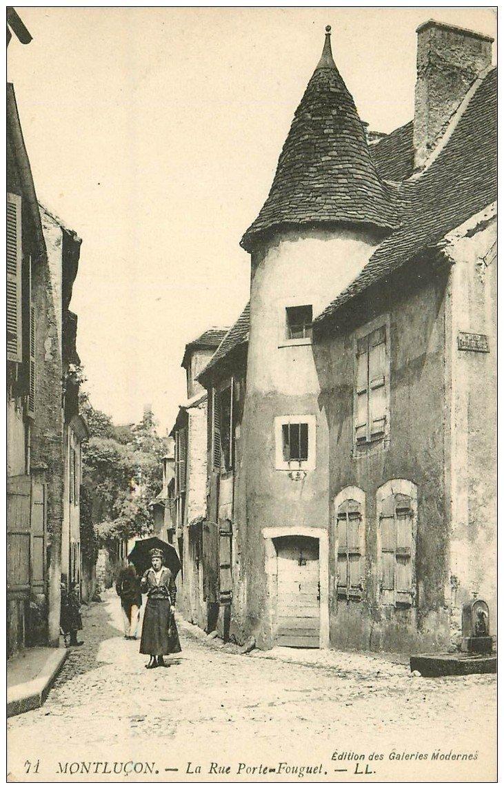 carte postale ancienne 03 MONTLUCON. La Rue Porte-Fouguet