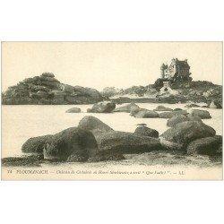 carte postale ancienne 22 PLOUMANACH. Château de Costaérès