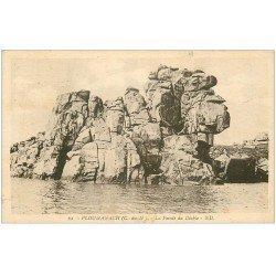 carte postale ancienne 22 PLOUMANACH. La Pointe du Diable 1935