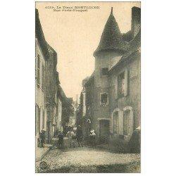 carte postale ancienne 03 MONTLUCON. La Rue Porte-Fouguet 1918